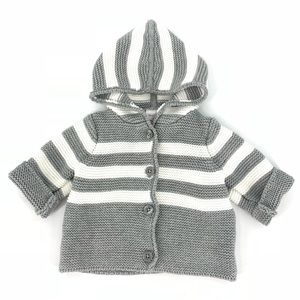 Hanna Andersson Knit Hooded Cardigan Sweater